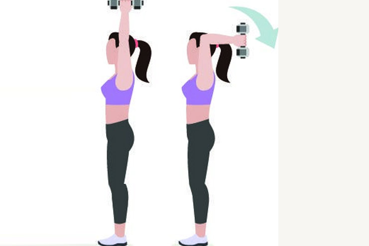 Over head Triceps