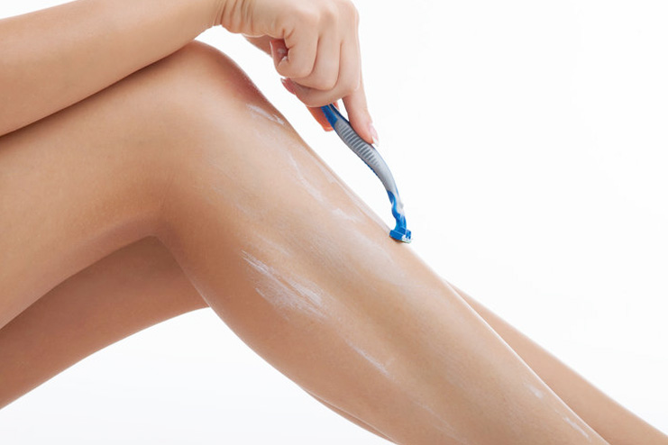 Remove your pubic hair with a razor
