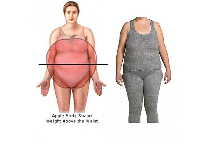Apple Shaped Body Type