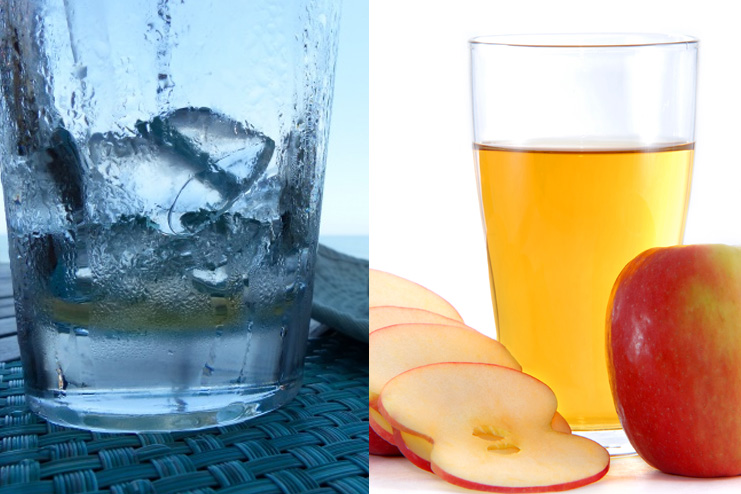 Apple cider vinegar and ice water toner