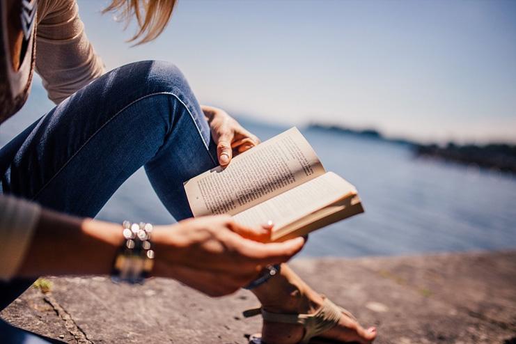 Dive into a book