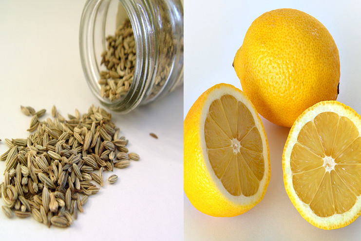 Fennel seeds and lemon toner