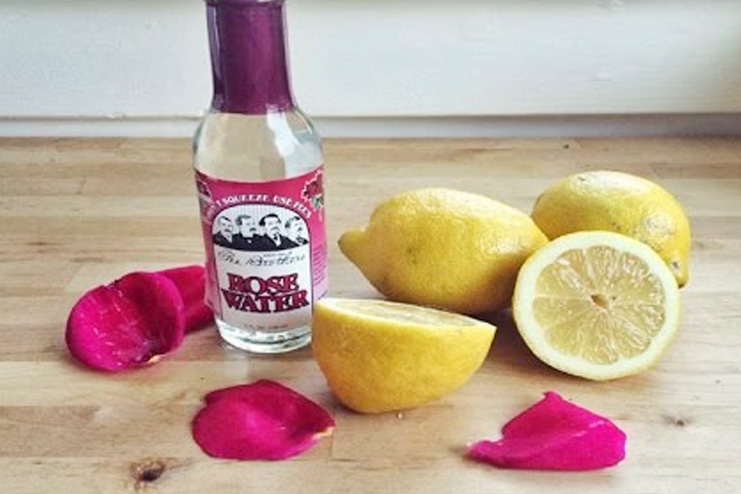 Lemon Juice and Rosewater toner