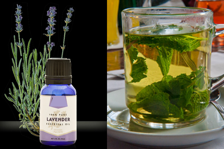 Peppermint tea and lavender oil toner
