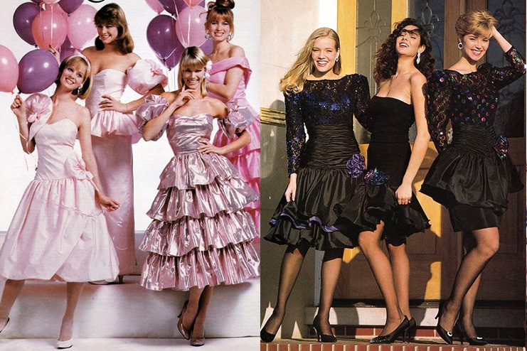The 80s Prom Gowns Dribble around