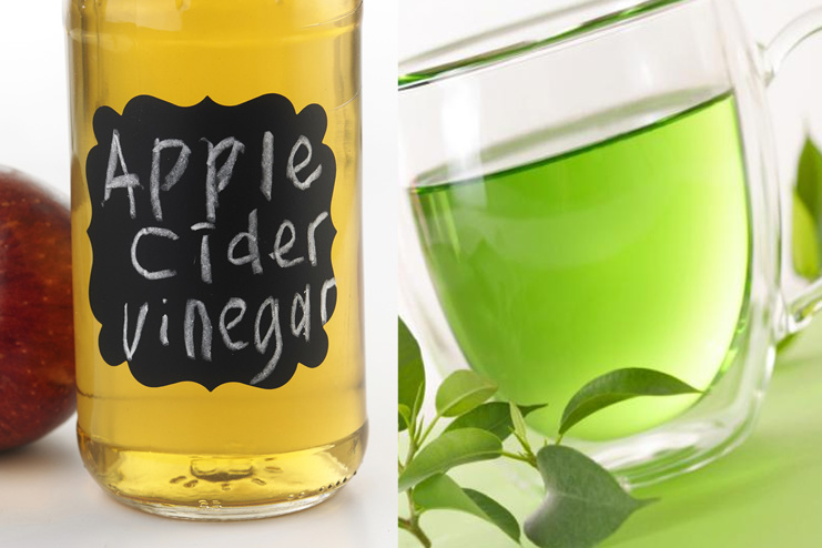 Green tea and apple cider vinegar toner
