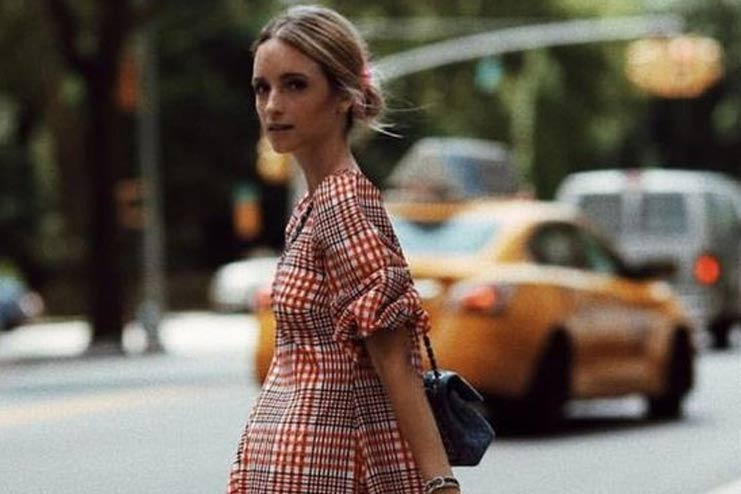 Checks-Long-dress
