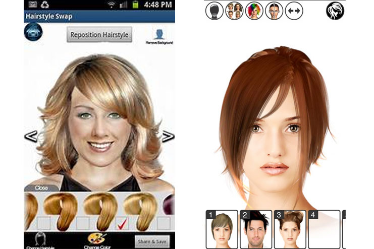12 Excellent Hair Makeover Apps Today Coral Tomorrow Brown